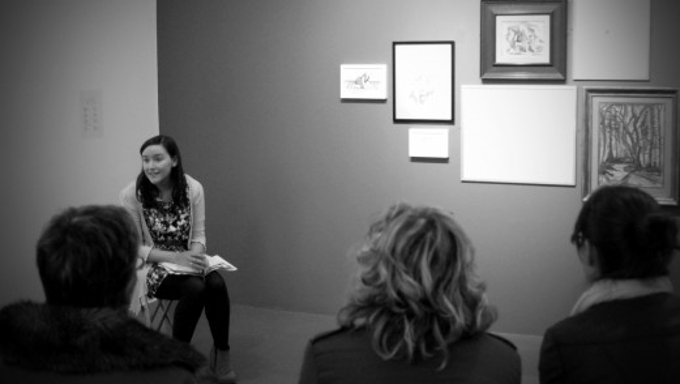 A previous Azure Network Dementia Friendly Tour at the Butler Gallery, Kilkenny, facilitated by Bairbre-Ann Harkin, Butler's Education Curator.
