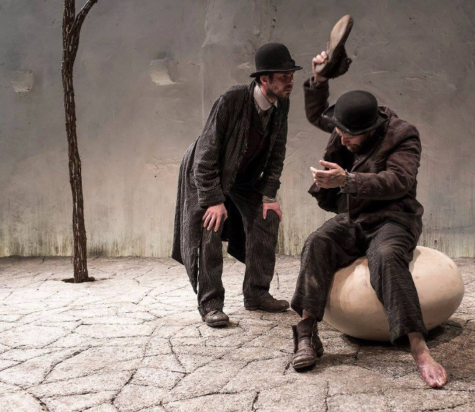Marty Rea as Vladmir and Aaron Monaghan as Estragon in Druid's production of Waiting for Godot. Photo Matthew Thompson