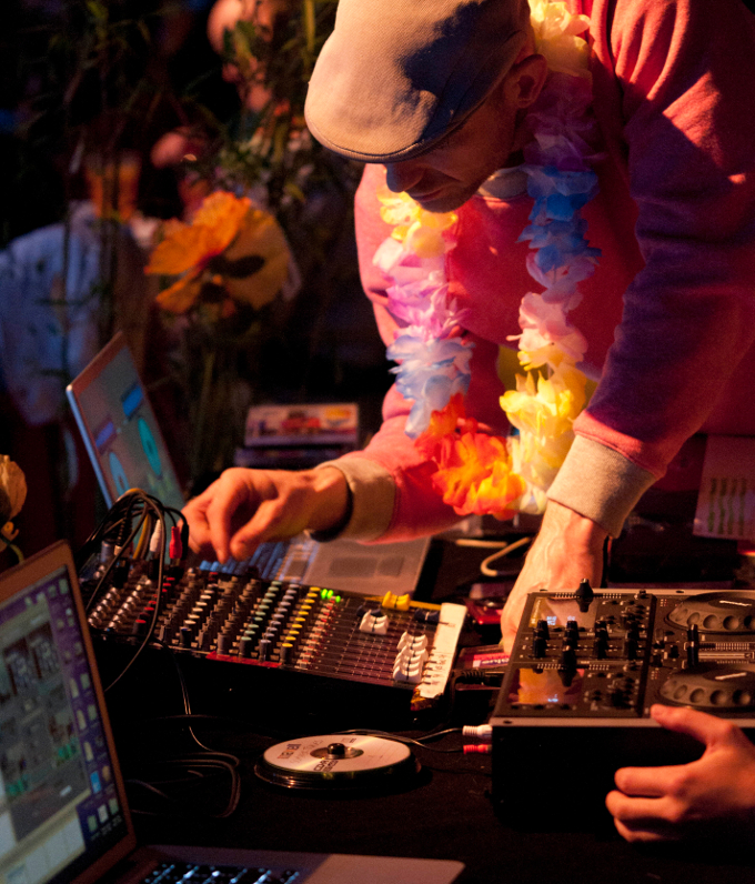 DJ at Club Tropicana, Photograph by David Ruffles