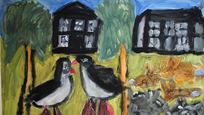 Diana Chambers, 2 birds, 2 houses