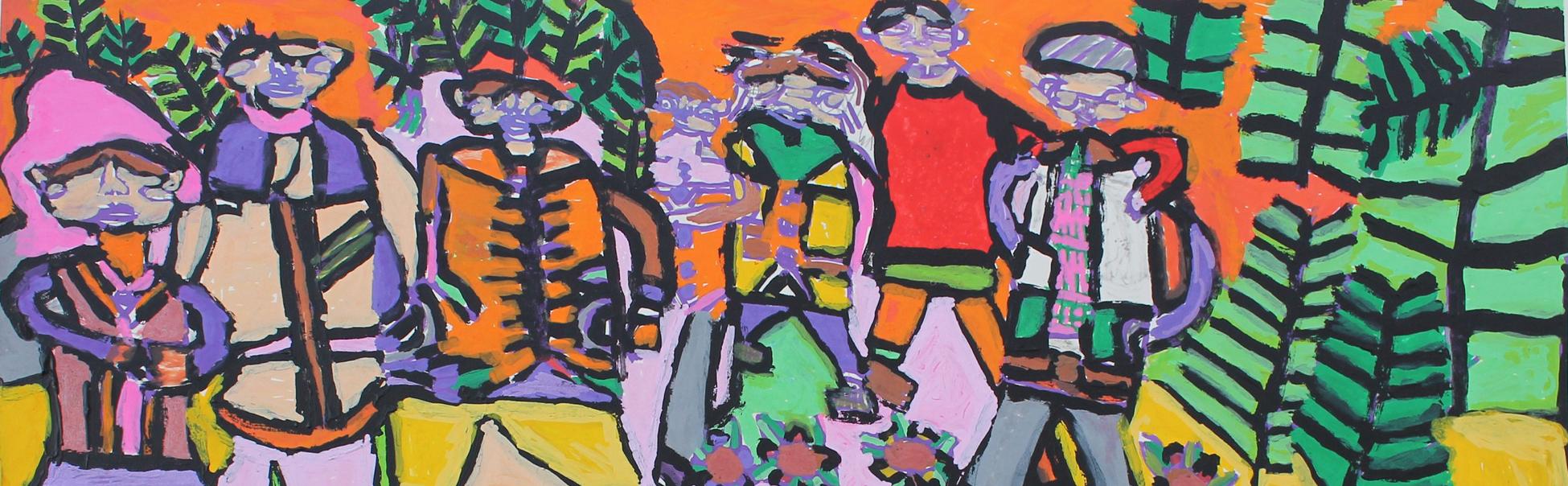 Acrylic painting by KCAT artist Sinéad Fahey