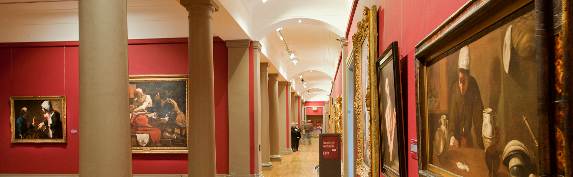 View of the collection of the National Gallery of Ireland in European Art exhibit dating from 1600 to 1700.