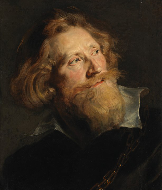 Peter Paul Rubens, Head of a Bearded Man, 1622-24