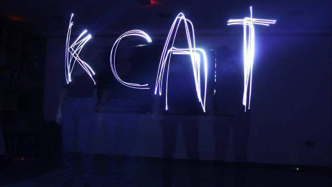Light painting during a photography class at KCAT.