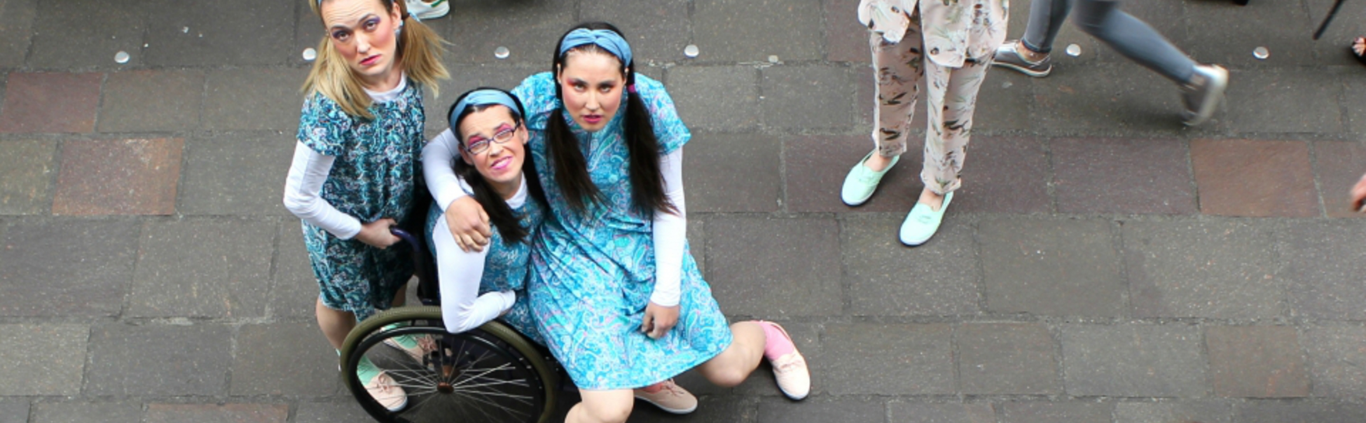 Mary Nugent, Leonie McDonagh, Marion Cronin and Sarah Ryan star in Don't Be Looking!!!