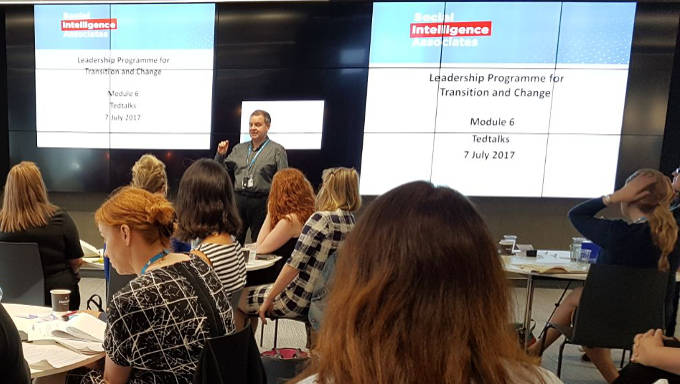 Pádraig Naughton speaking as part of his Leadership Development for Transition and Change programme with the Social Intelligence Associates, July 2017.