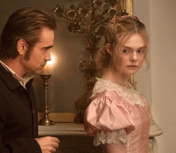 Colin Farrell as John McBurney and Elle Fanning as Alicia in The Beguiled.