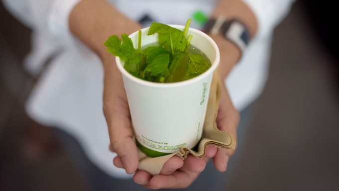 Fresh peppermint tea by Luncheonette. Photo by Louis Haugh. Photo by Louis Haugh.