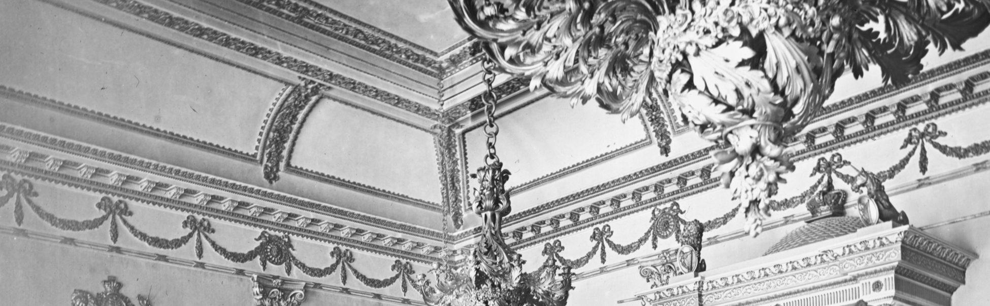 ceiling detail, state apartments, Dublin Castle