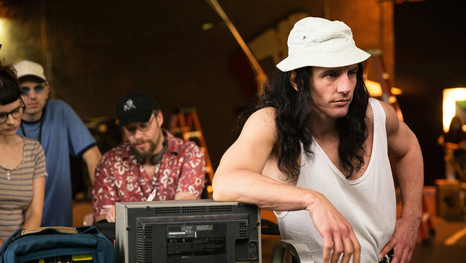 James Franco as Tommy Wiseau and Seth Rogen as Sandy Schklair in The Disaster Artist (2017)