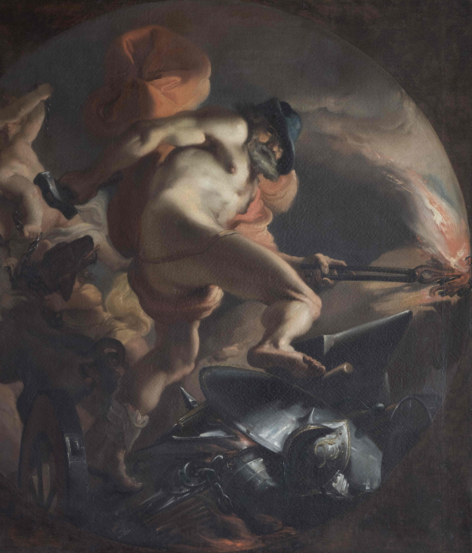 One of the series of seven mythological paintings by Gaetano Gandolfi in the State Apartments, which are among the foremost cycles of eighteenth-century Italian paintings on display anywhere in Ireland.