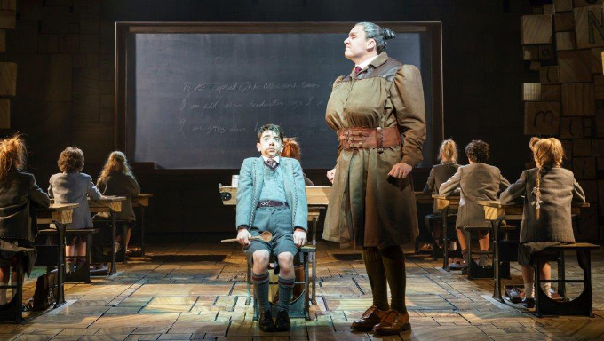 David Shannon as Miss Trunchbull in the Royal Shakespeare Company's production of Roald Dahl's Matilda The Musical