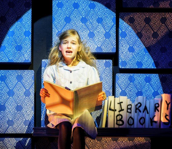 Emma Moore as Matilda in the Royal Shakespeare Company's production of Roald Dahl's Matilda The Musical