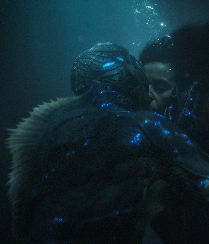 Doug Jones and Sally Hawkins in Guillermo del Toro's The Shape of Water (2017)