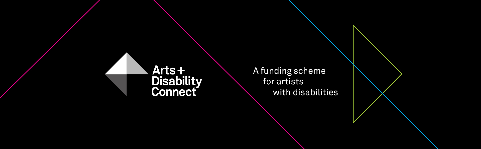Arts and Disability Connect funding scheme for artists with disabilities 2018 Logo and graphic