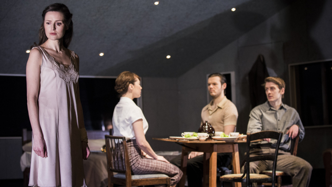 Left to right: Clare Dunne, Vanessa Emme,  Lloyd Cooney and Ian Toner in Annabelle Comyn's Look Back In Anger