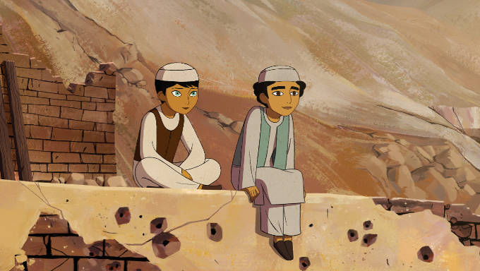 Paravana and Shauzia in a scene from The Breadwinner