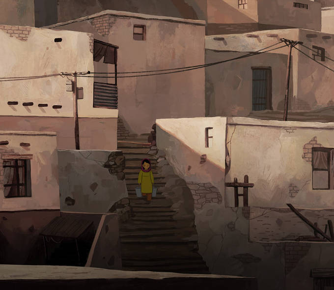 A scene from The Breadwinner, Academy Award Winning Nominee for Best Animated Feature