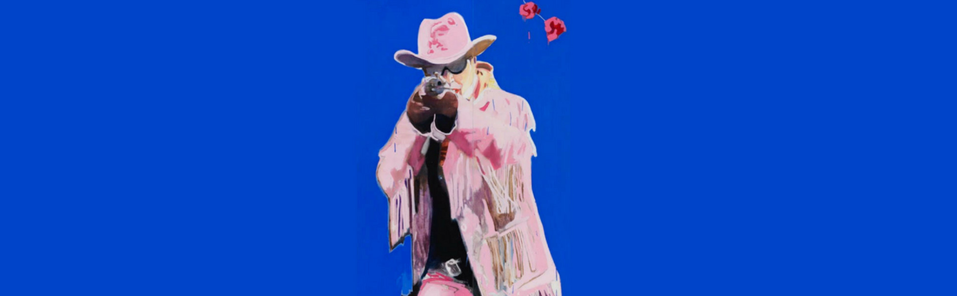 Painting Trish Wylie Bang Bang Roses, promotion for Corn Exchange production of The Misfits by Arthur Miller