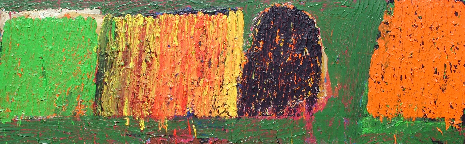 A photo of an abstract painting by Thomas Barron