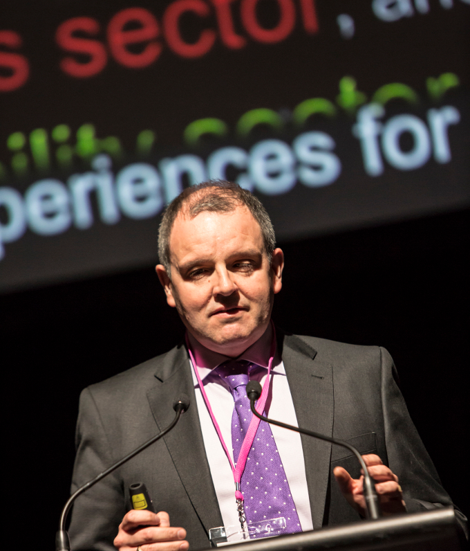 Arts & Disability Ireland's Executive Director Pádraig Naughton gives his keynote address Organisational Pathways at the Arts Activated conference in Sydney 20th September, 2016.