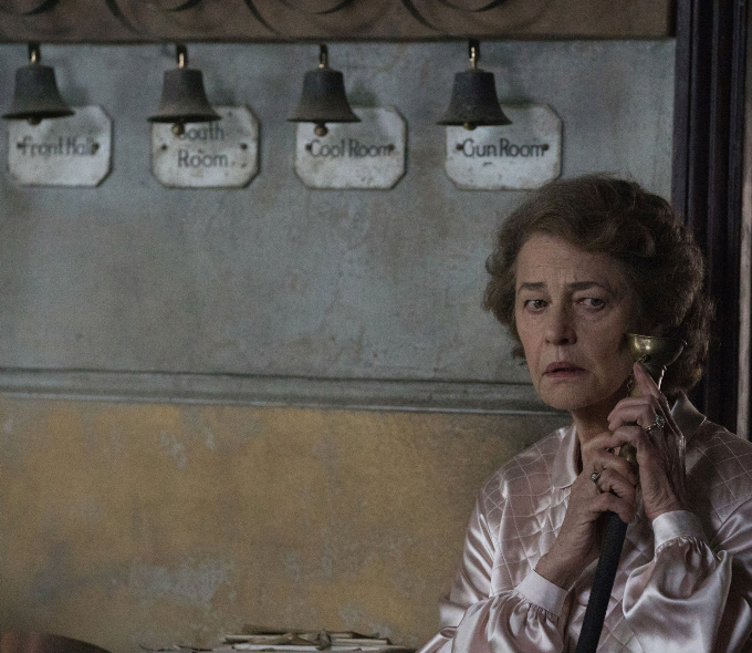 Charlotte Rampling as Mrs Ayers in The Little Stranger, 2018.