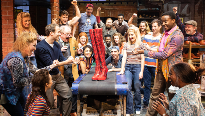 The cast of Kinky Boots. Photo Credit: Helen Maybanks