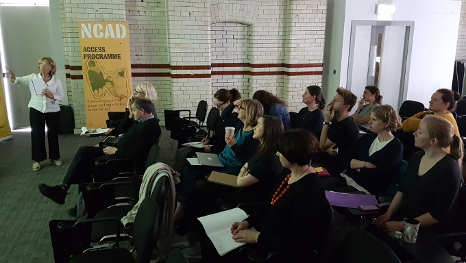 Anne Hornsby with participants at NCAD