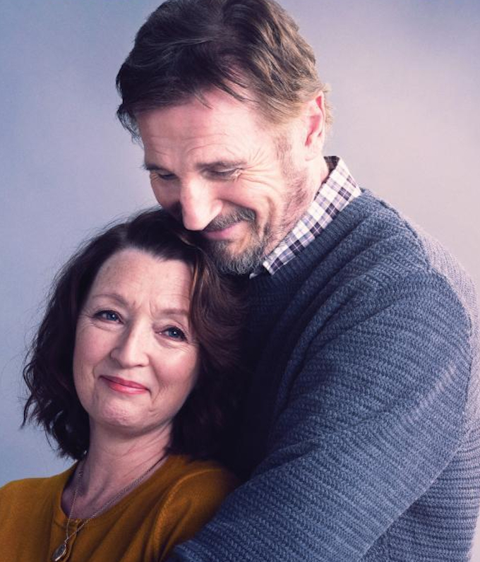 Liam Neeson and Lesley Manville in Ordinary Love (2019)