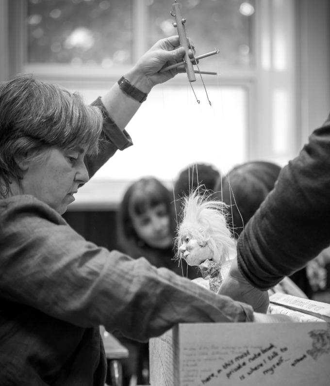Life Outside the Box workshop. Photo, Nik Palmer. Post 8-12 Meet an Artist Instagram takeover.