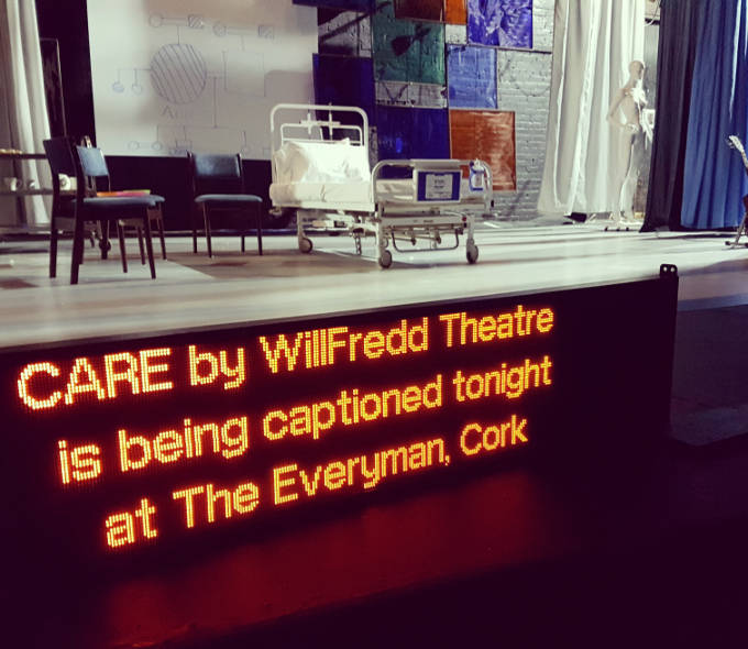 Captions at WillFredd Theatre's CARE
