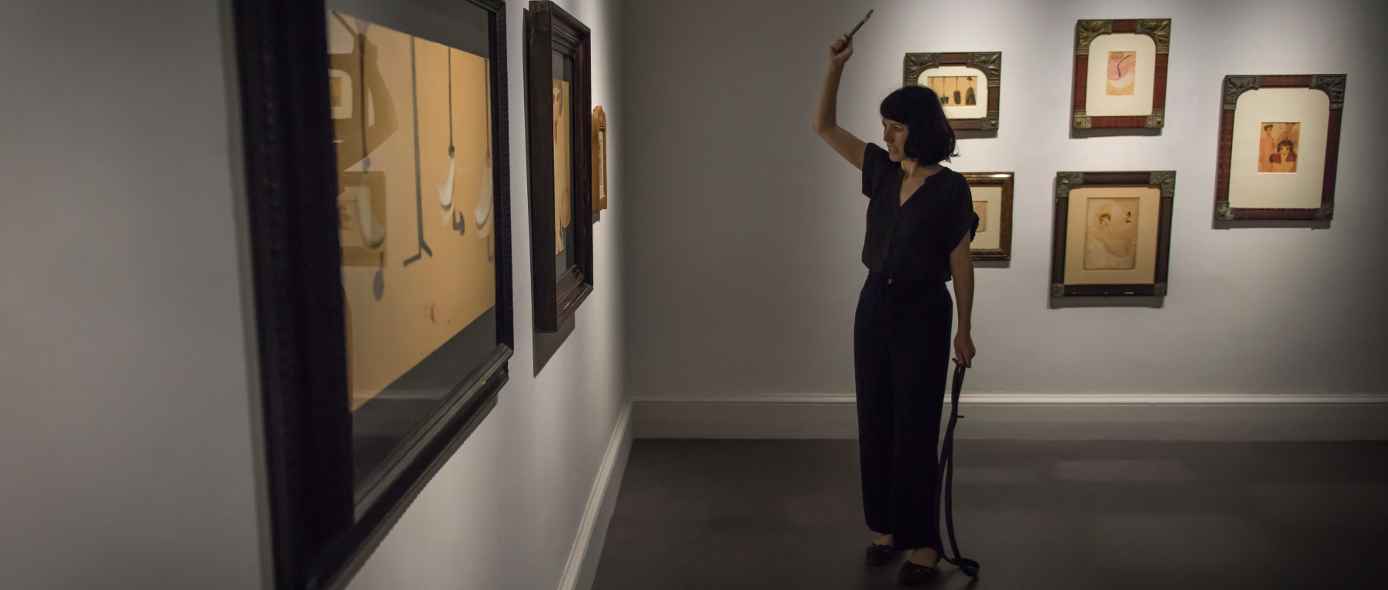 'Listen, Hissen, Hessin', response to 'The Passion According to Carol Rama', IMMA (Irish Museum of Modern Art), June 2016. Photo credit: Louis Haugh.