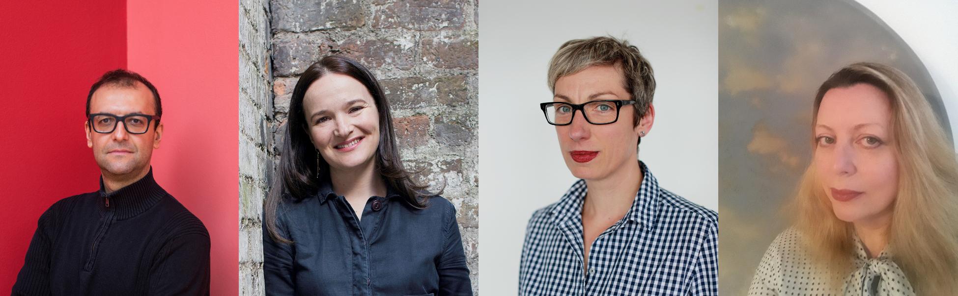 Headshots of four curators