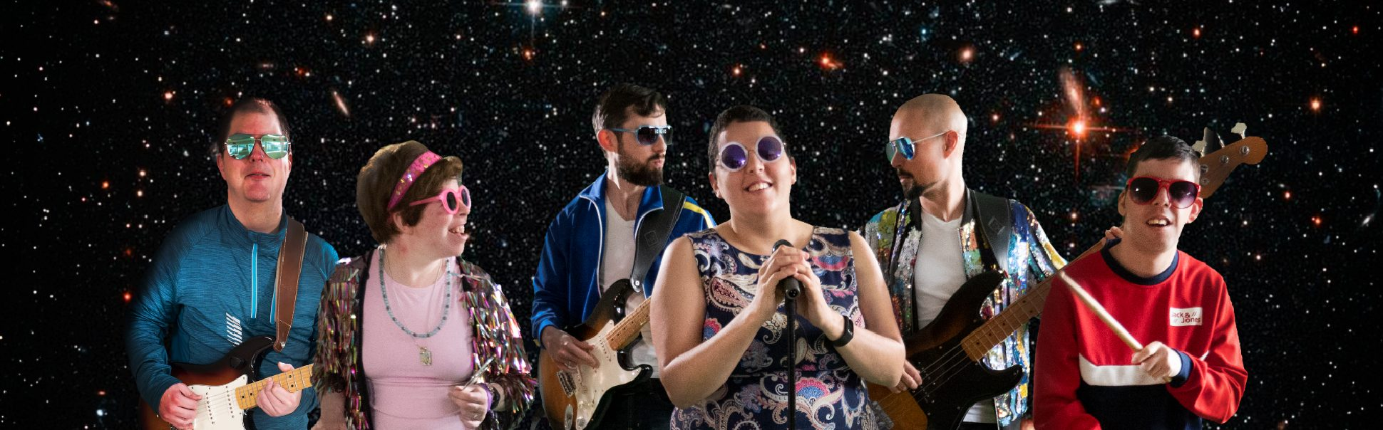 Electric Dreams band members in Space