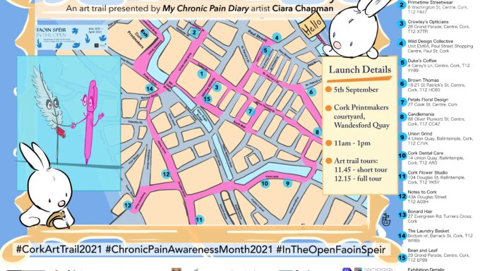 Art Trail Map as part of My Chronic Pain Diary by Ciara Chapman