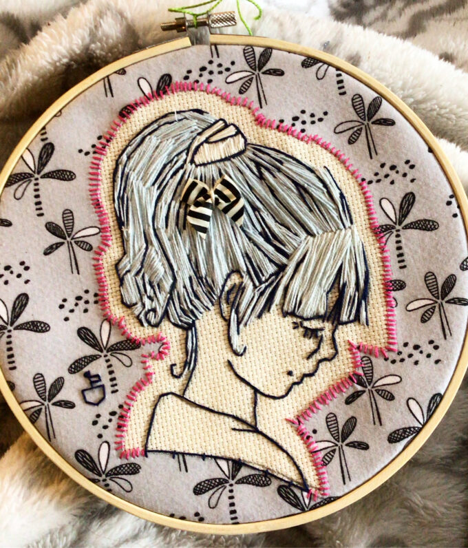 Embroidery piece from My Chronic Pain Diary by Ciara Chapman