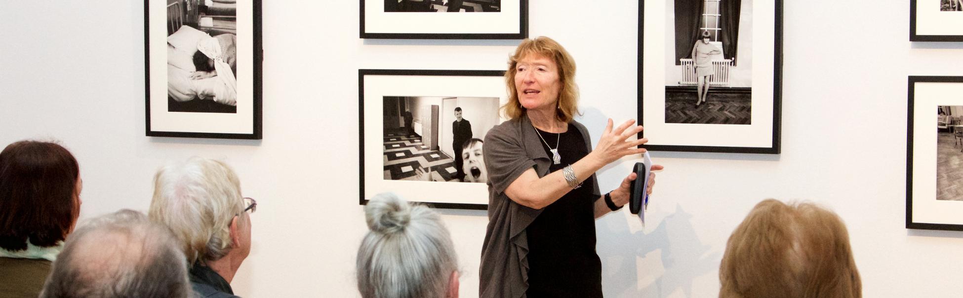 Anne Hornsby delivering audio description training.