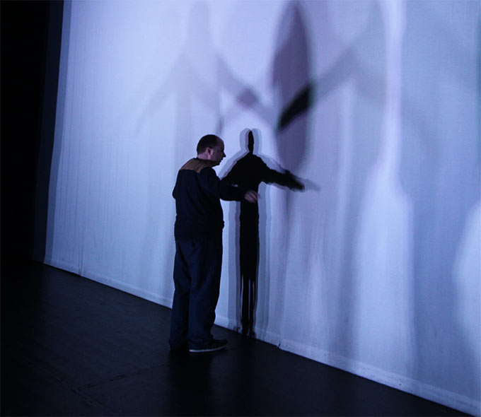 Image from choreography workshops during the making of Silent Moves