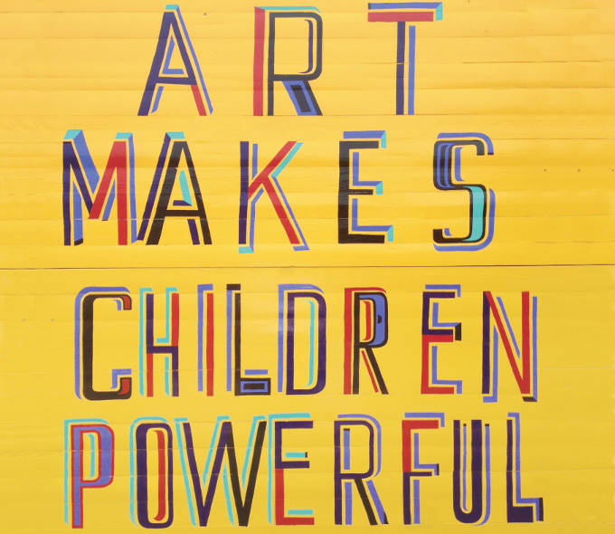 Art Makes Children Powerful by Bob and Roberta Smith at Butler Gallery Kilkenny Oct 2013