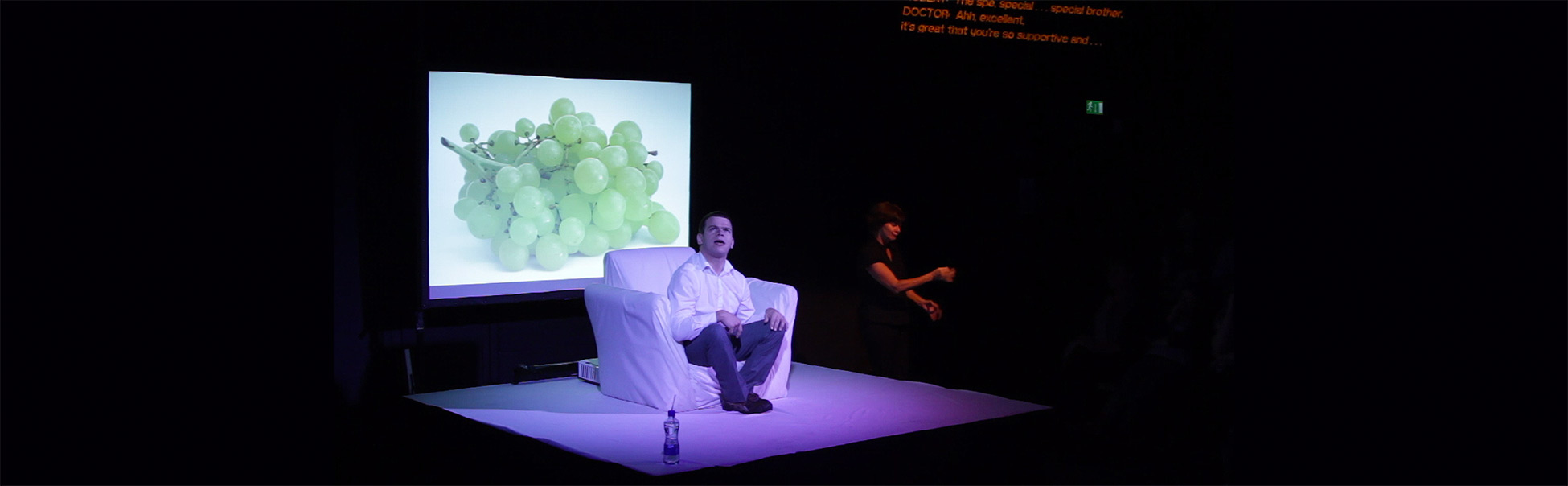 Robert Softley performing in If These Spasms Could Speak by Robert Softley/The Arches at Dublin Theatre Festival 2014