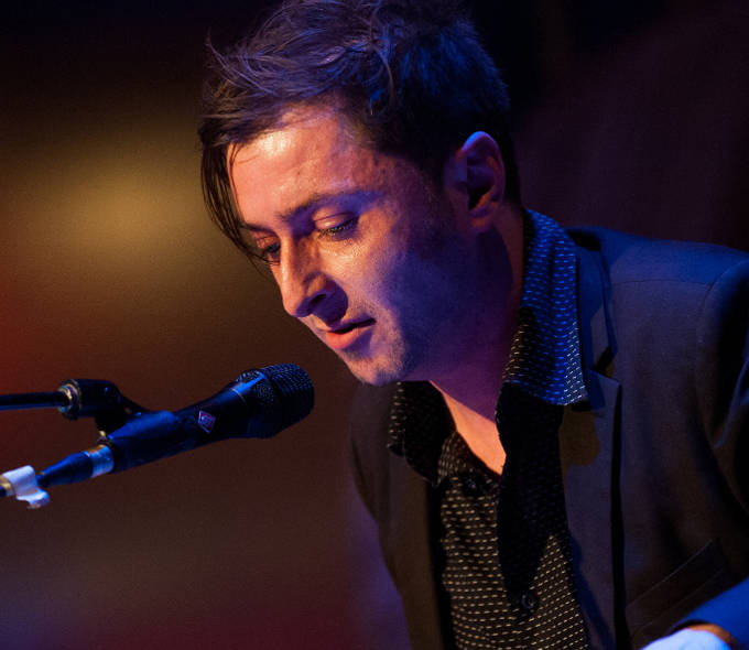 Musician and writer Kevin Nolan performing at the evening event at ADI's Creative Connections conference, Black Box Galway, 2016. Photo: REG GORDON